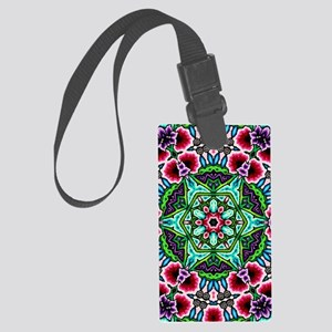 CP_bloom_poster1 Large Luggage Tag