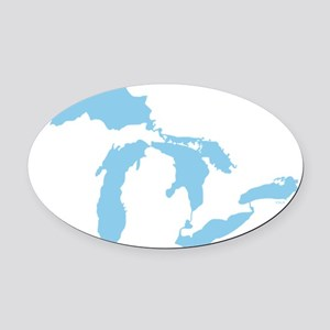 Great_Lakes_Med_Blu_15.35_x_15.35 Oval Car Magnet