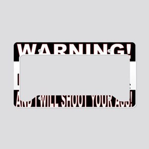 WARNING MESS WITH MY SCOOTER. License Plate Holder