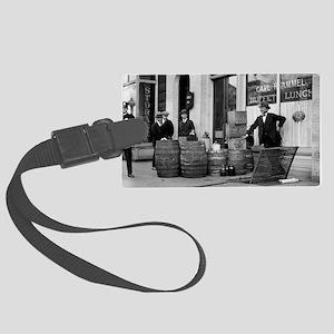 Bootleg Liquor Raid Large Luggage Tag