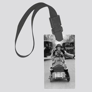 Flapper Driving Pedal Car Large Luggage Tag