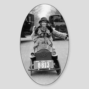 Flapper Driving Pedal Car Sticker (Oval)