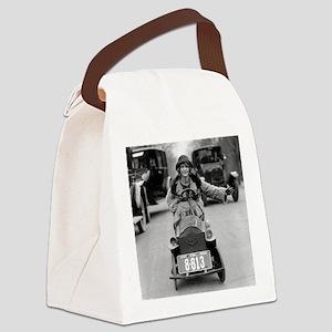 Flapper Driving Pedal Car Canvas Lunch Bag