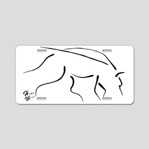 LINE TRACKING signtra Aluminum License Plate