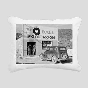 The Eight Ball Pool Room Rectangular Canvas Pillow