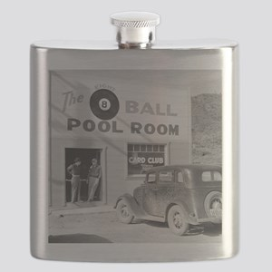 The Eight Ball Pool Room Flask