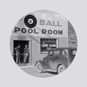 The Eight Ball Pool Room Round Ornament