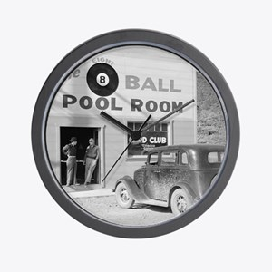 The Eight Ball Pool Room Wall Clock