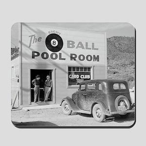 The Eight Ball Pool Room Mousepad