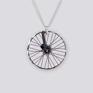 bikewheel Necklace Circle Charm