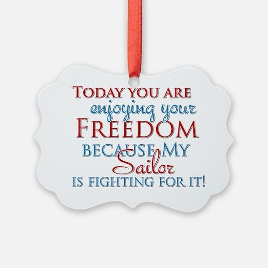 Todayyouareenjoyingyourfreedombec Ornament