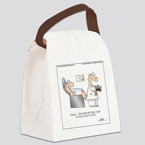 CROWS FEET by April McCallum Canvas Lunch Bag