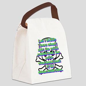 Le18-22(white) Canvas Lunch Bag