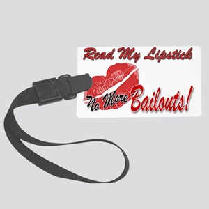 LipstickBailouts_10inTrans Large Luggage Tag