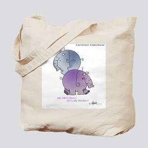 HE AINT HEAVY by April McCallum Tote Bag
