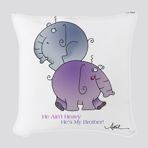 HE AINT HEAVY by April McCallu Woven Throw Pillow