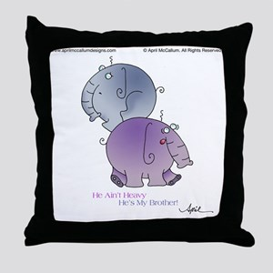 HE AINT HEAVY by April McCallum Throw Pillow