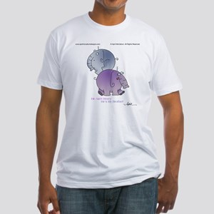 HE AINT HEAVY by April McCallum Fitted T-Shirt