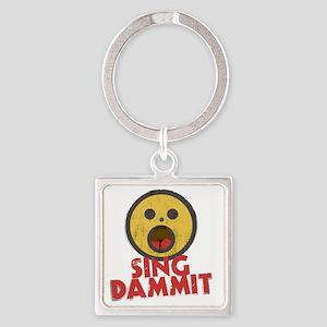 singDammit Square Keychain