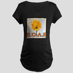 roar Maternity Dark T-Shirt