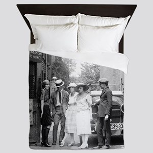 The Krazy Kat Speakeasy Queen Duvet