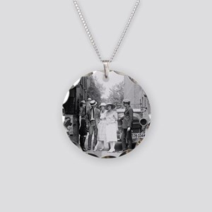 The Krazy Kat Speakeasy Necklace Circle Charm