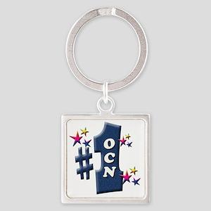number 1 ocn Square Keychain