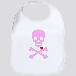 Pink Pirates Love Bib