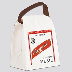 reggaeredstrioegary Canvas Lunch Bag