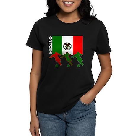 Soccer Mexico Women's Dark T-Shirt