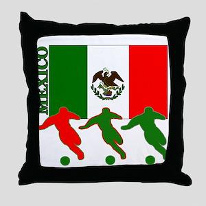 Soccer Mexico Throw Pillow