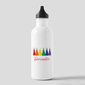 Rainbow XMas Trees Water Bottle