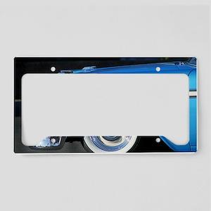 Classic blue car License Plate Holder