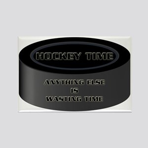 Hockey Time Waste Rectangle Magnet