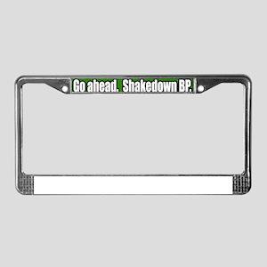 Shakedown-Offshore-Drilling-BP License Plate Frame