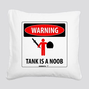 2-Tank-warning-stamped Square Canvas Pillow