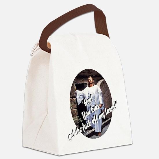 resurrectiondark10x10 copy Canvas Lunch Bag
