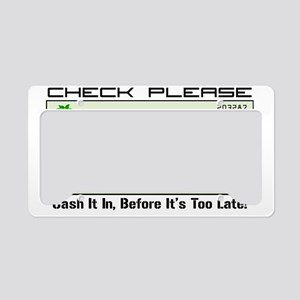 bp check License Plate Holder