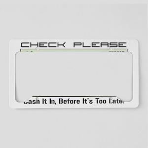 bp check License Plate Holder
