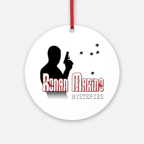 RM-logo-w-bh Round Ornament