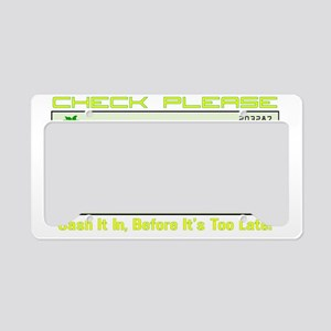 bp check-D License Plate Holder