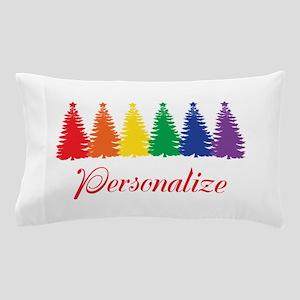 Rainbow XMas Trees Pillow Case