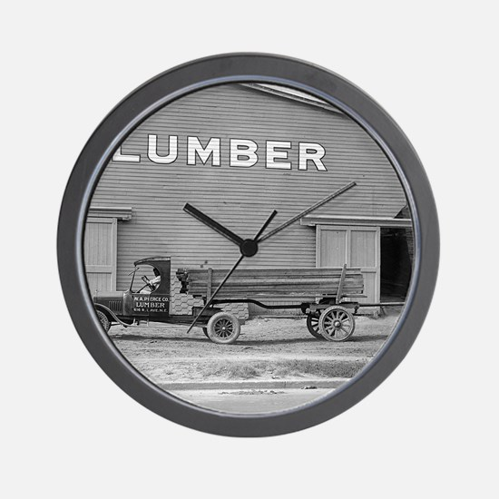 Early Ford Tractor Trailer Wall Clock
