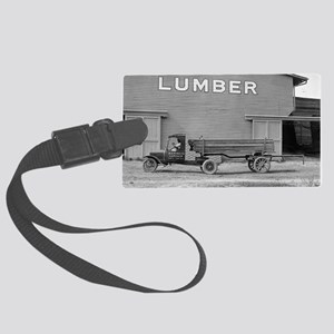 Early Ford Tractor Trailer Large Luggage Tag