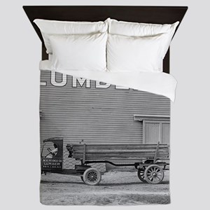 Early Ford Tractor Trailer Queen Duvet
