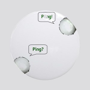 PING PONG, GAME ON! Round Ornament