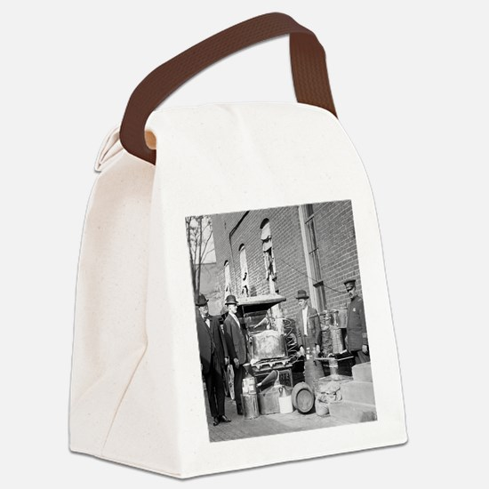 Police With Confiscated Still Canvas Lunch Bag