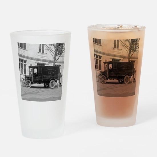Lewinsville Dairy Truck Drinking Glass