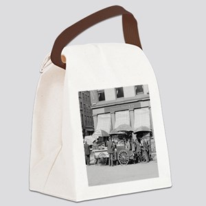 New York City Lunch Carts Canvas Lunch Bag