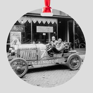 Pikes Peak Champion Race Car Round Ornament